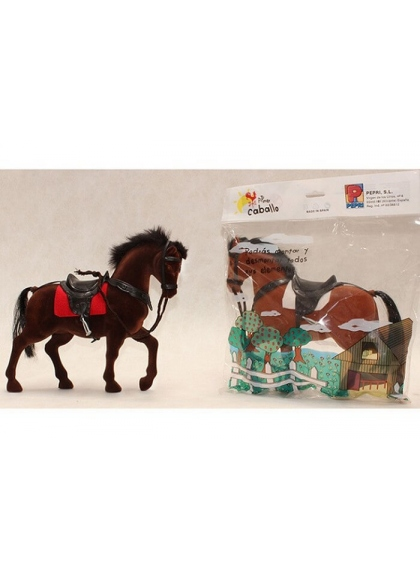 HORSE IN DECORATED BAG