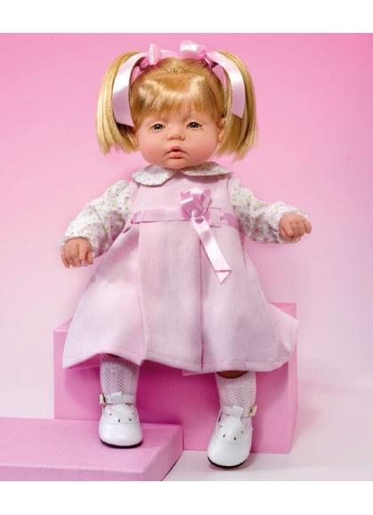 Muñecas Miel de Abeja Tina y Leo 50cm TINA CON VESTIDO ROSA MICROPANA