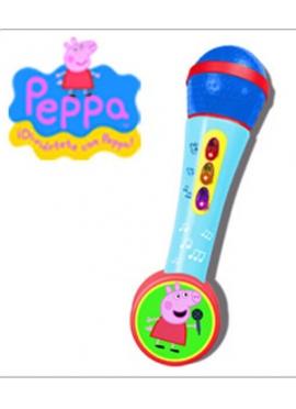 Micro de Mano con Amplificador y Ritmos Peppa Pig
