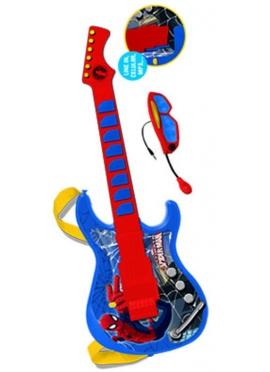 Guitarra Electrónica con Gafas y Micro Spiderman