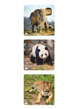 Set 3 Progressive Puzzles Of Animals