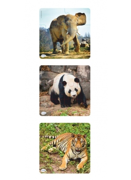 Set 3 Puzzles Progresivos de Animales