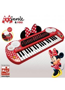 Keyboard con Conexión y Salida Audio MP3 Minnie Mouse