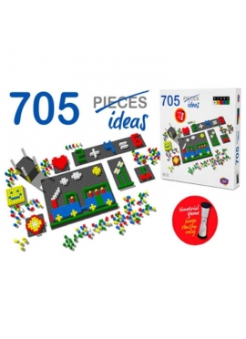 Pixel-Farbe 718 Teile, Uhr