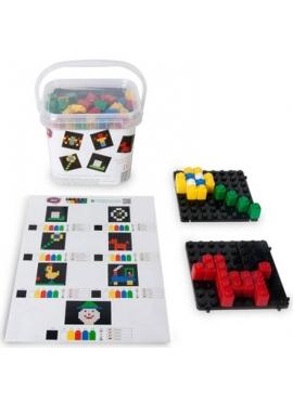Pixel Color 162 Piezas con Reloj