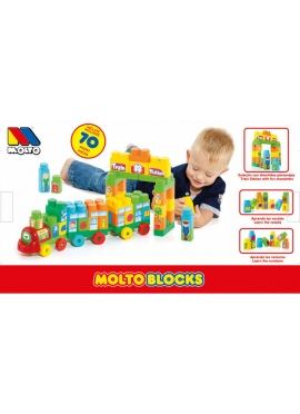 Tren Blocks 70 pcs + 2 Vagones