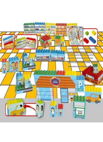 Combisticker Supermarché 104 pièces