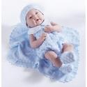 Newborn Con Vestido y Mantita Azul