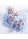 Newborn With a Dress in General Blue