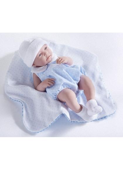 Neugeborene Mit Blauen Anzug und Ganzen