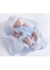 Un neonato Con un Vestito Blu e Generale