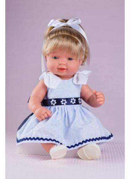 Mignonne Robe bleu clair et Marine
