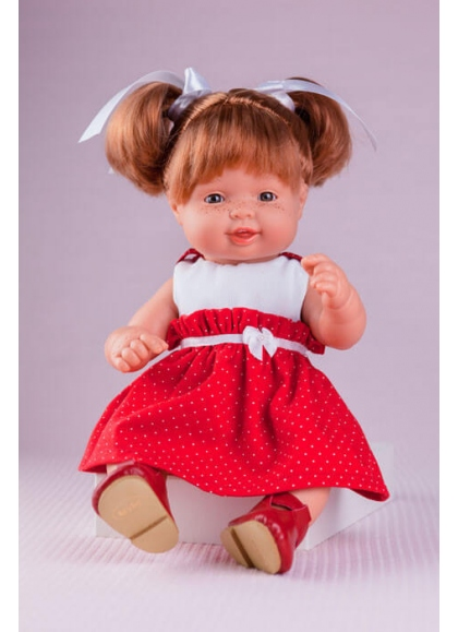 Cute Red Dress with White Polka dots