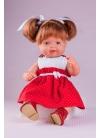 Красное платье Cuco в белый горошек