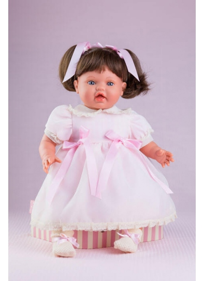 Danny Dress Organdi Pink and Beig