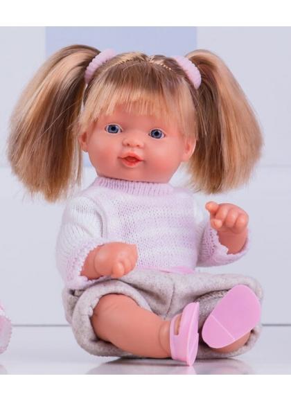 Muñecas Miel de Abeja ñacos de Miel 23cm Ñaco Pantalón Corto beig y Jersey Punto
