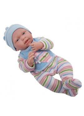 Neugeborenes Baby im Gestreiften Pyjama