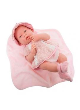 Neugeborenes Mädchen Mit Set Pink