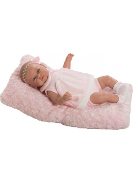 Sarah newborn pink dress pillow in bag