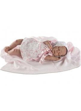 Reborn Baby Reborn Con Vestido Ojos Cerrados En Caja