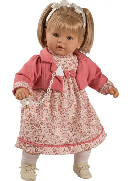 Baby Dulzona Llorona Con Vestido Corazones En Caja