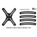 Cruce De Vias + 4 Curvas 1/16