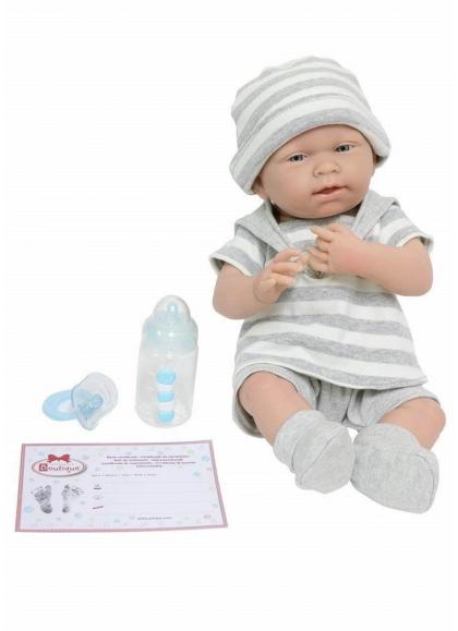 Muñecas Berenguer Boutique la Newborn Newborn Con Conjunto Gris Rayas Niño