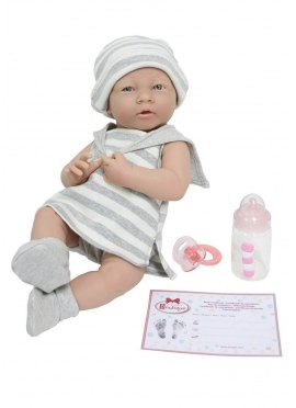Neugeborenen Set Grau Gestreift Mädchen