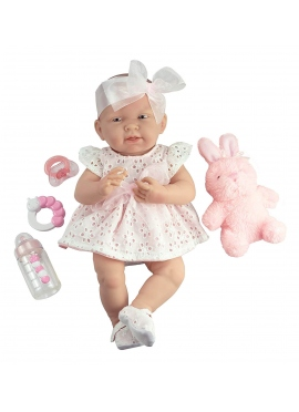 Newborn Pink Dress, With a Pet and Accessories