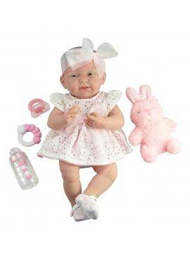 Newborn Vestido Rosa Con Mascota y Accesorios