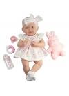 Muñecas Berenguer Boutique la Newborn Newborn Vestido Rosa Con Mascota y Accesorios