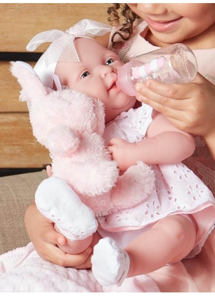 Newborn Pink Dress With Pet and Accessories