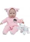 Muñecas Berenguer Boutique la Baby Bebé Con Pijama Rosa y Peluche