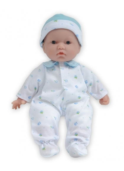 Baby mit blau bedruckten Pyjamas 28 cm