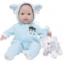 Baby-Pyjama und Plüsch Blau