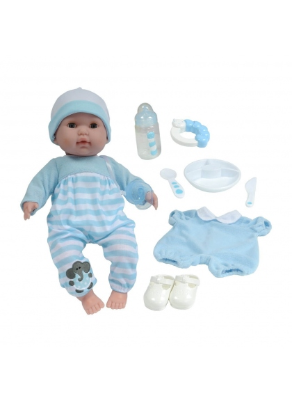 Baby 38 cm Mit Zubehör Blau
