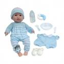 Baby 38 cm Mit Zubehör, Blau