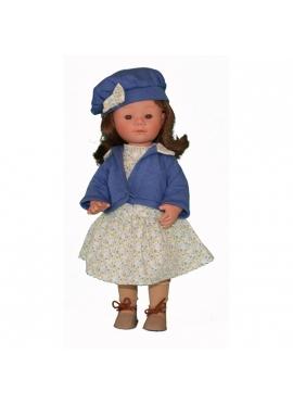 Marieta Caucasian Brunette Set spring blue 34 cm
