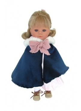 Marieta Con Abirgo Azul 34 cm