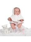 Muñecas Berenguer Boutique Lola, Lili, Lucas y Lila Lily Niña Con Vestido Rosa y Blanco Con Capucha 46 cm
