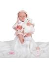 Newborn Niña Con Vestido Rosa Con Capucha 38 cm