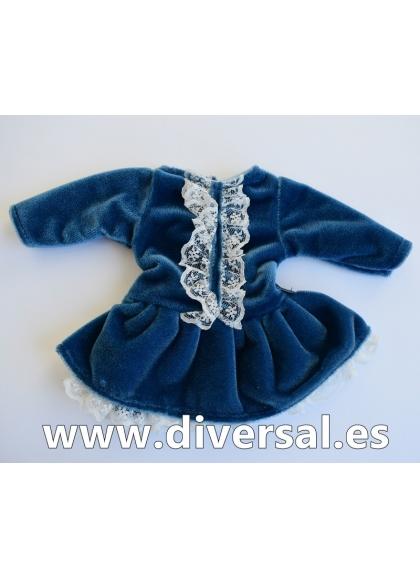 Conjunto Invierno de terciopelo azul
