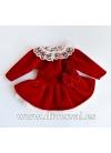 Conjunto Invierno de terciopelo rojo