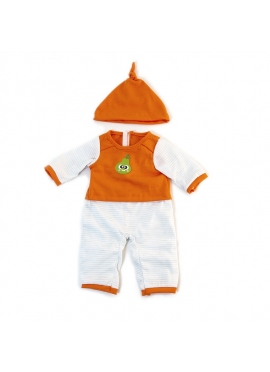 Pyjama Froid Orange Rayé 40 Cm