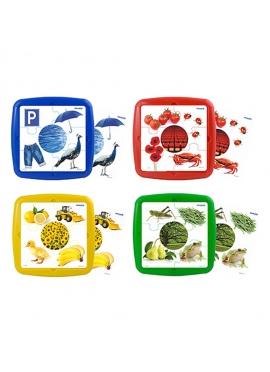 Set Of 4 Puzzles: Colors