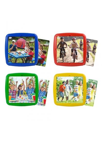 Juguetes Series y Colecciones PUZZLES INFANTILES Set 4 Puzles: Ocio Con Amigos