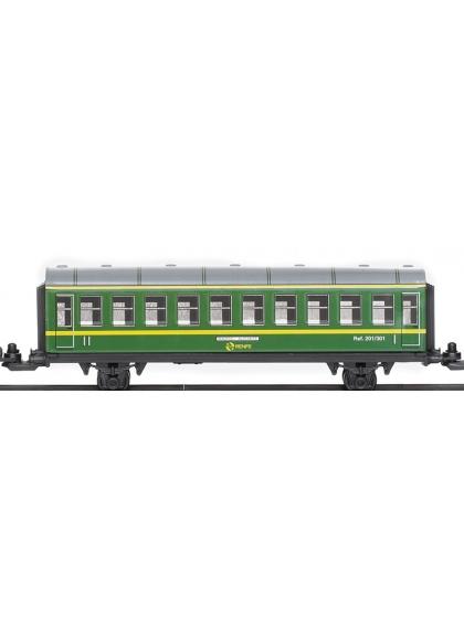Vagón Pasajeros De Chapa Verde