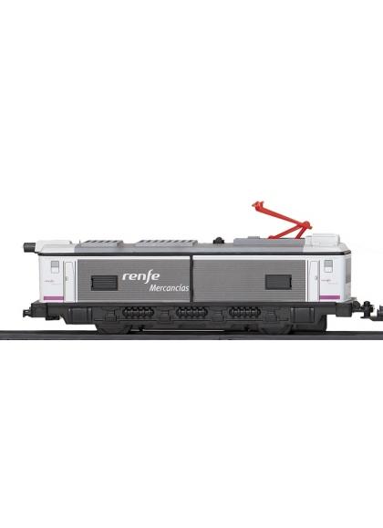 Locomotora Con Motor Clasica Gris
