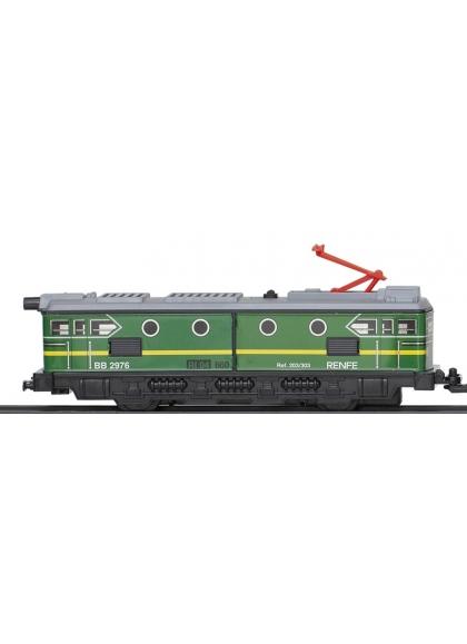 Locomotora Con Motor Clasica Verde