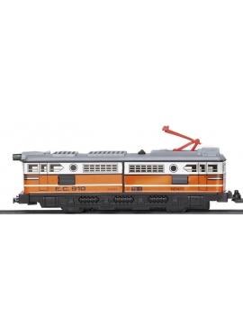 Locomotora Con Motor Clasica Naranja